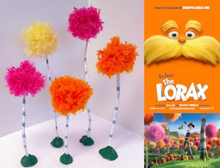 Looks like so much fun to make!!  Dr. Seuss...Lorax trees