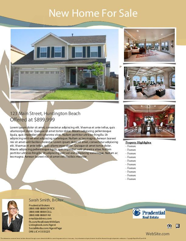 Best Real Estate Marketing Flyer Templates Images On