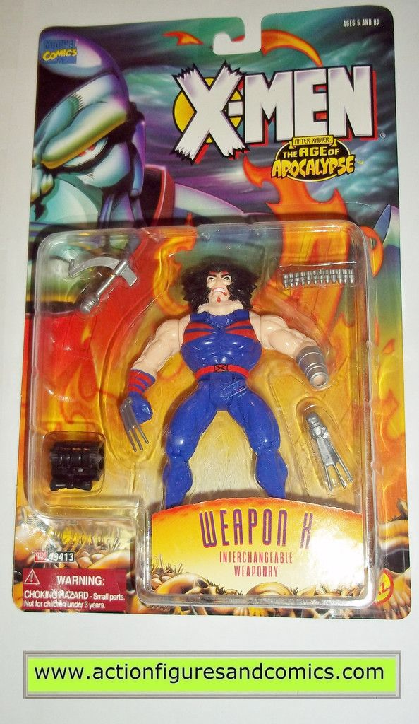 X-MEN X-Force toy biz WEAPON X WOLVERINE age of apocalypse aoa 1995 marvel universe moc mip mib action figures
