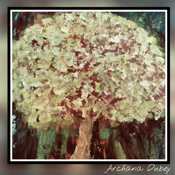 Tree oil paintings by Archana dubey