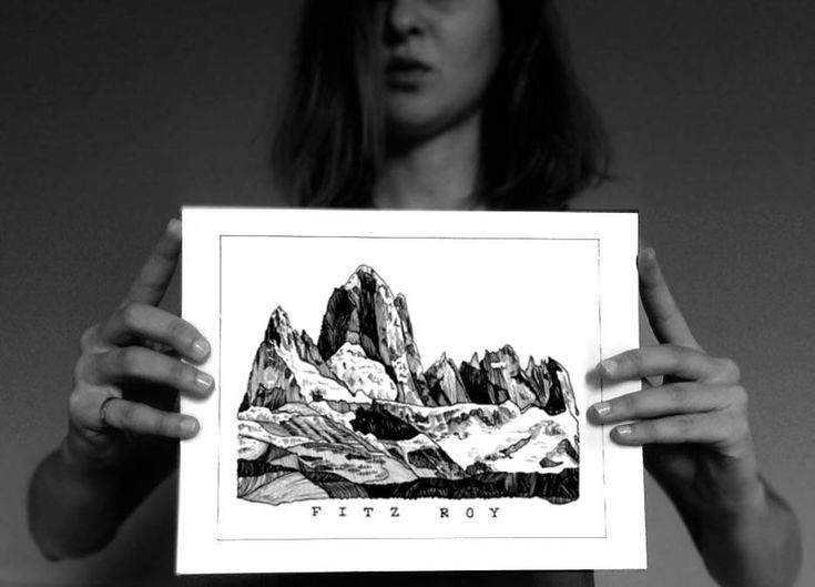 Excited to share the latest addition to my #etsy shop: Fitz Roy Illustration,Patagonia,Mountain Print,Nature Print,Minimalist Art,Black and White,Illustration,Wall Print,Landscape,Gift,Travel http://etsy.me/2imLFRp #housewares #homedecor #black #white #bedroom #blackandwhite #ill