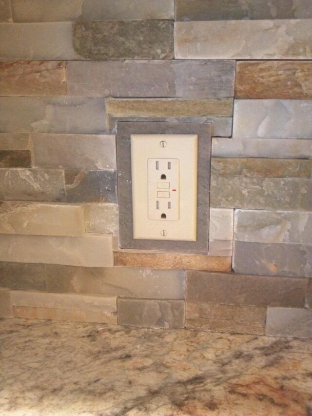 My Solution For Outlet Covers When Using Irregular Stone