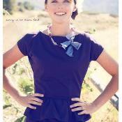 Plum Harvest Dress - via @Craftsy