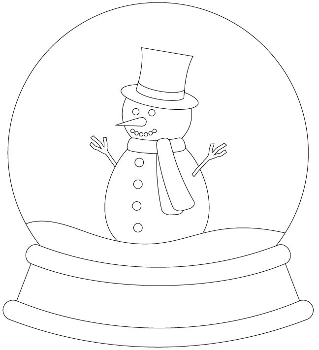 Snowman Snowglobe by Bird