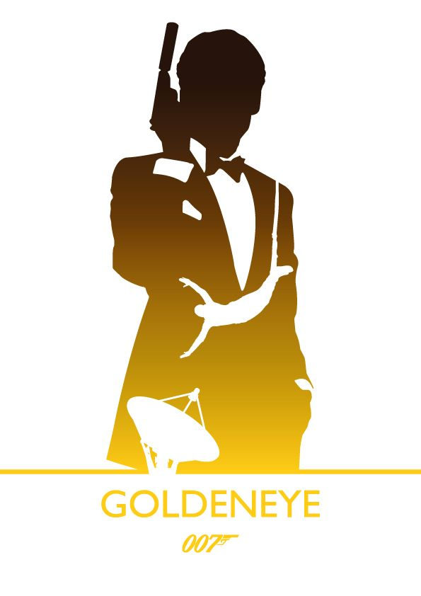 Goldeneye, James Bond by Phil Beverley, via Behance