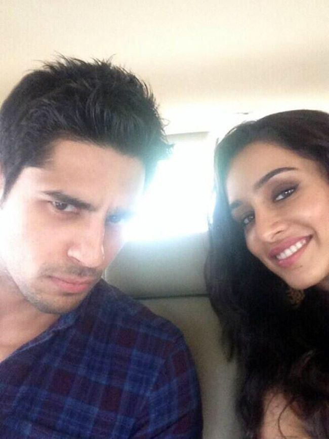 Sidharth Malhotra and Shraddha Kapoor during the shooting of 'Ek Villain'. #Style #Bollywood #Fashion #Beauty #Selfie
