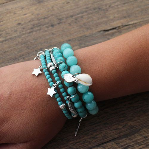 Mix of bracelets: - To the stars & back - Blue Bird - Explore the beach