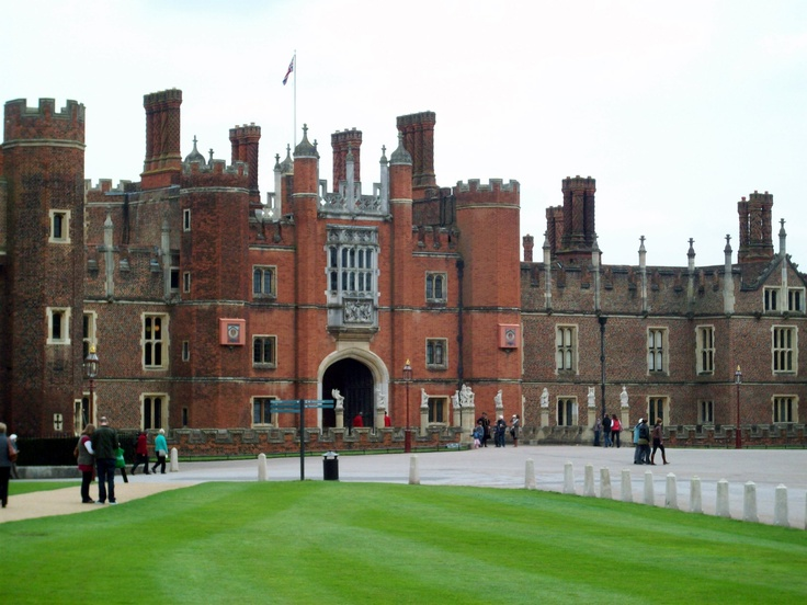 Hampton Court, England. This was one of my favorite places we visited in England. I love Tudor history and happened to be there during the 500th anniversary of Henry viii becoming king so there were a ton of reenactments. It was so cool!!