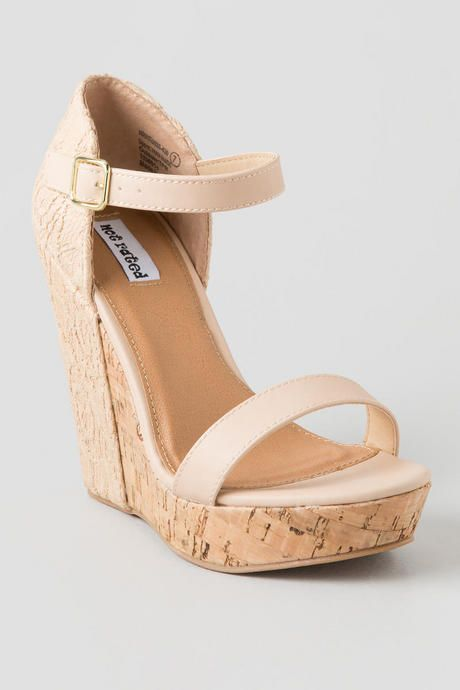 Nude Crochet Wedge. Perfect for pairing with your favorite sundress. Spring/summer 2015 outfit
