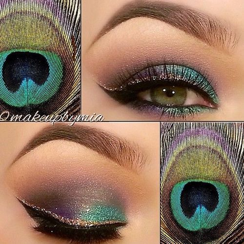 peacock colour eyeshadow