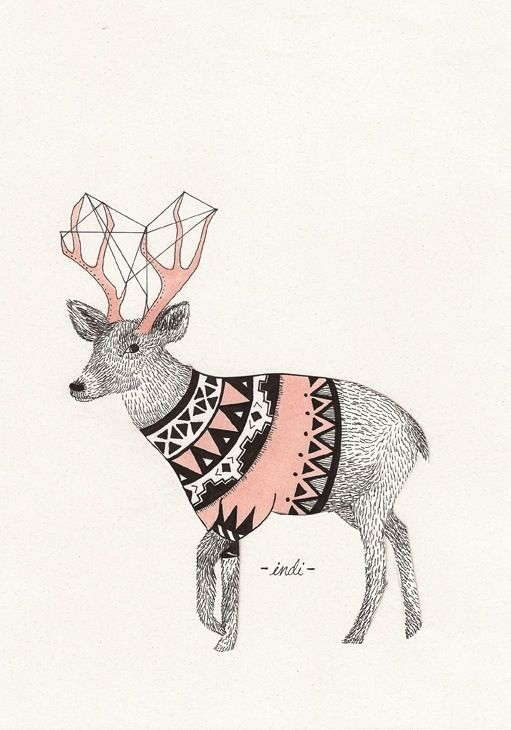 M s de 25 ideas incre bles sobre ciervo geom trico en pinterest animales geom tricos tatuaje - Botas paredes ciervo ...