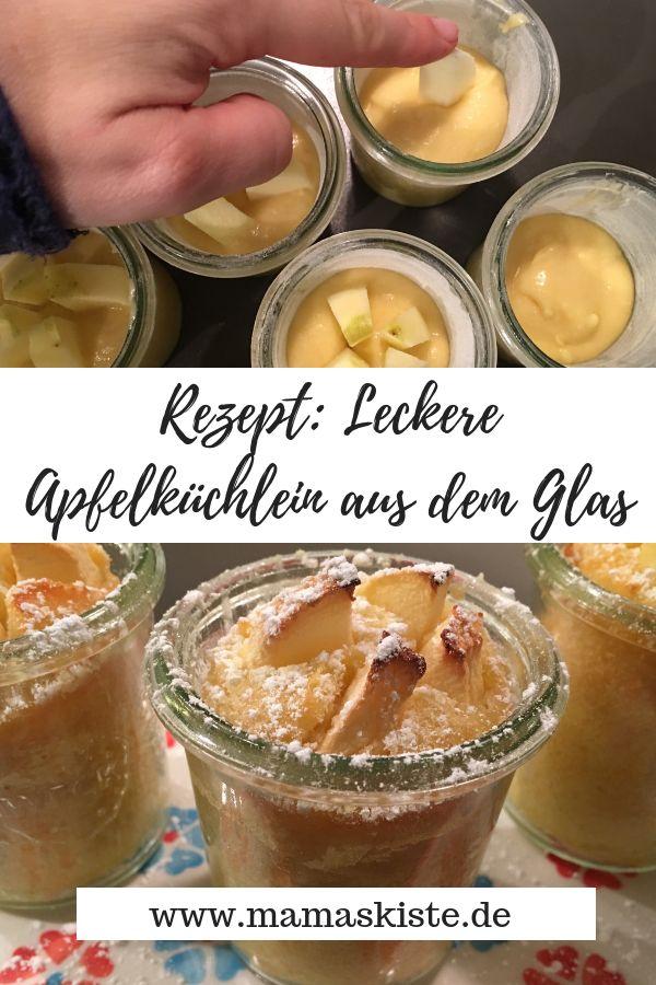 Einfach leckere Apfelkuchen aus dem Glas, die schnell zubereitet werden und …   – Backen für Kinder