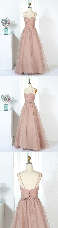Long bridesmaid dress,Khaki bridesmaid dress,Organza bridesmaid dress