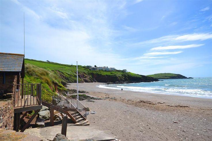 Challaborough beach, with life guards in high season