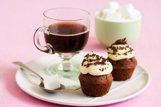 Cappuccino Cupcakes Recipe Here: http://www.taste.com.au/recipes/20344/cappuccino+cupcakes?ref=collections,chocolate-recipes