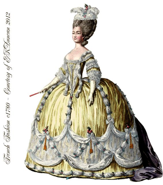1774 french fashion plate png from the time of marie for French rococo fashion