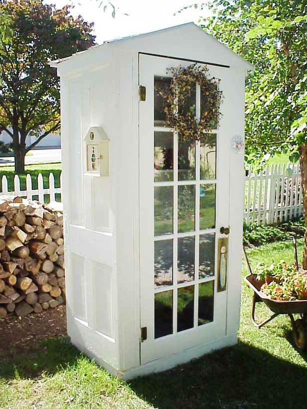 Garden Shed from Old Doors, small but useful