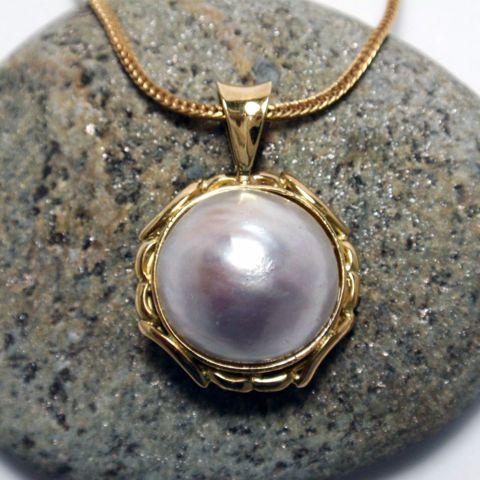 Mabe Pearl Pendant – Unio Goldsmith