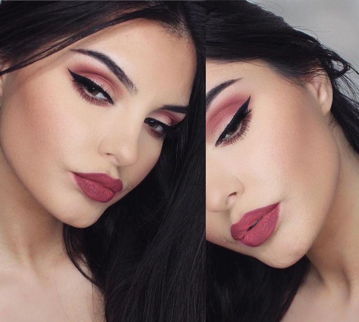 """""""YouTube video on this matte makeup look if you've missed it check out! link in bio! ☺️❤️ Products used @vegas_nay lashes in elegance✨ Lips @hudabeauty in…"""""""
