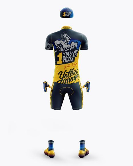 Download Download Mens Full Cycling Kit Mockup (Back View) Object ...