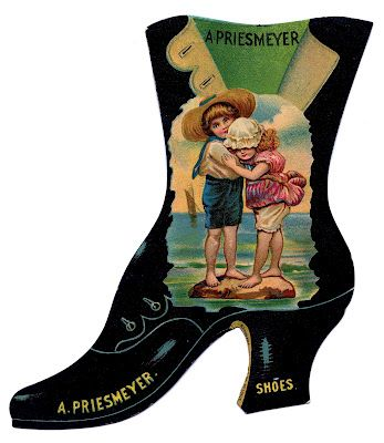 Victorian Advertising - High Button Shoe - The Graphics Fairy