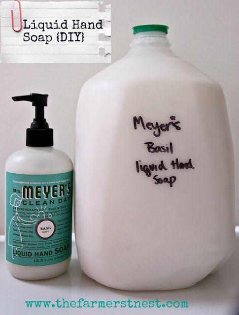 Homemade Liquid Hand Soap.