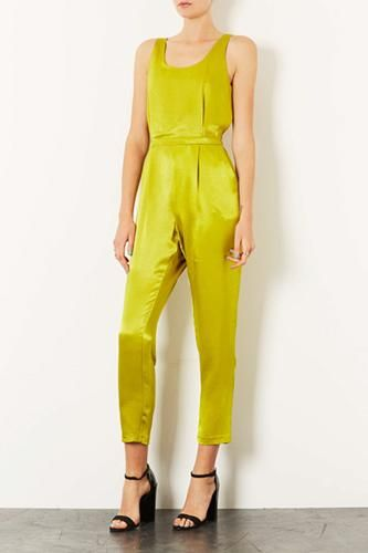 Topshop Lux Shine Vest Jumpsuit, $120, available at Topshop.