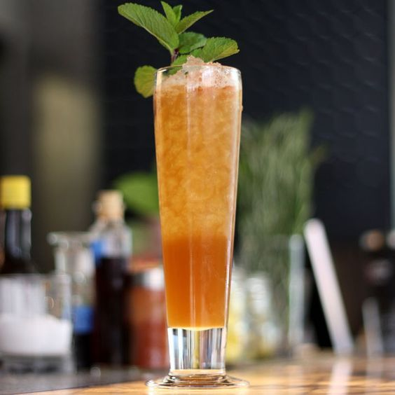 606 Swizzle: Sherry, pineapple juice and a rummy homemade mix are the stars of this cocktail from Sable Kitchen & Bar in Chicago.