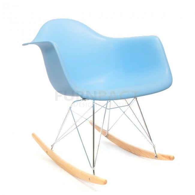 Eames RAR schommelstoel blauw Eames, Blauw en Kleuren