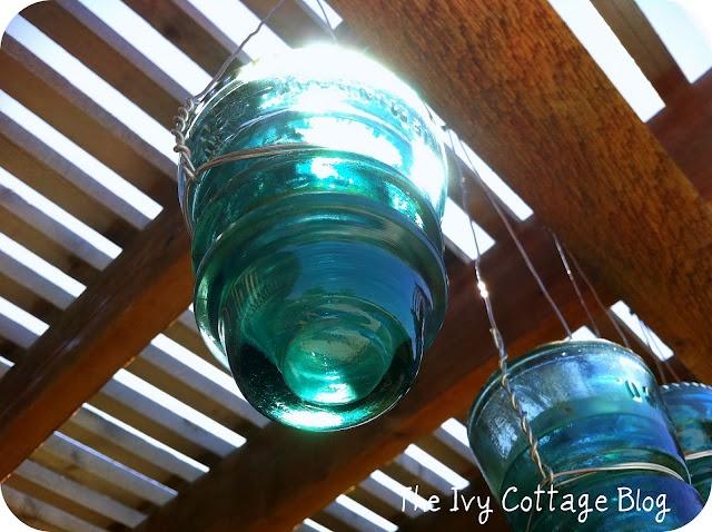 The Ivy Cottage Blog: Vintage Glass Telephone Insulators: Idea, Glass Telephone, Diy Tutorials, Vintage Insulators, Vintage Glass, Telephone Insulators, Glass Insulators