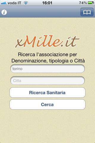 http://xmille.it per scegliere a chi donare