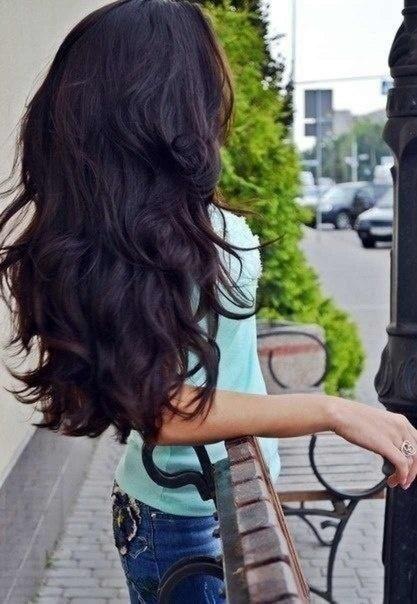 black violet hair