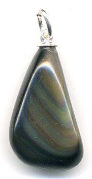 obsidienne oeil céleste pendentif