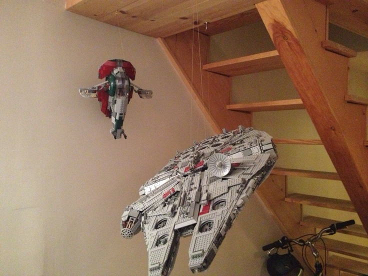 How To Hang Your Lego Millennium Falcon Star Wars