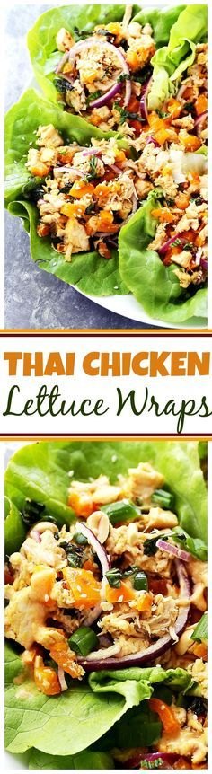 Thai Chicken Lettuce Wraps - Quick and easy Chicken Lettuce Wraps tossed in an incredible Peanut Sauce make for a great weeknight meal option that's full of flavor! #BePicky #FeedFeed