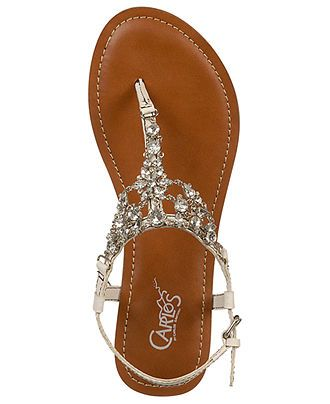 Carlos by Carlos Santana Shoes, Flora Flat Sandals - Sandals - Shoes - Macy's These shoes would b perfect for a beach wedding!