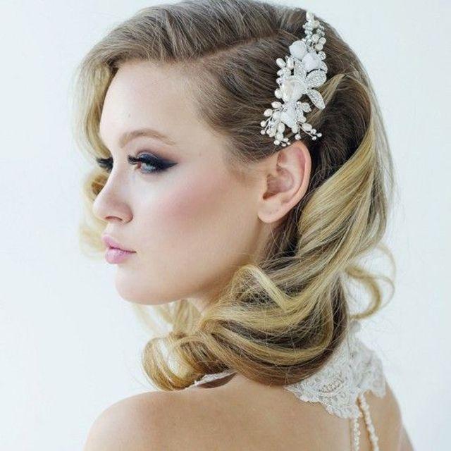 Sensational 1000 Ideas About Medium Wedding Hair On Pinterest Half Up Hairstyle Inspiration Daily Dogsangcom