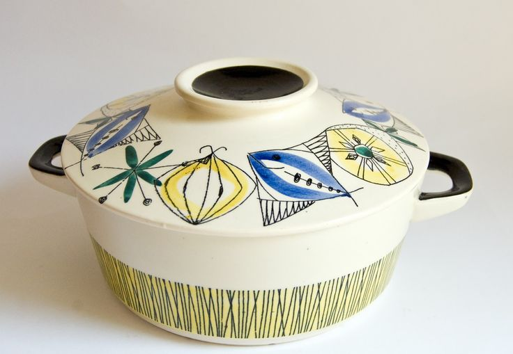 vintage dishes from italy stoneware | Auction Find, Stavangerflint Bambus Flamingo , Inger Waage