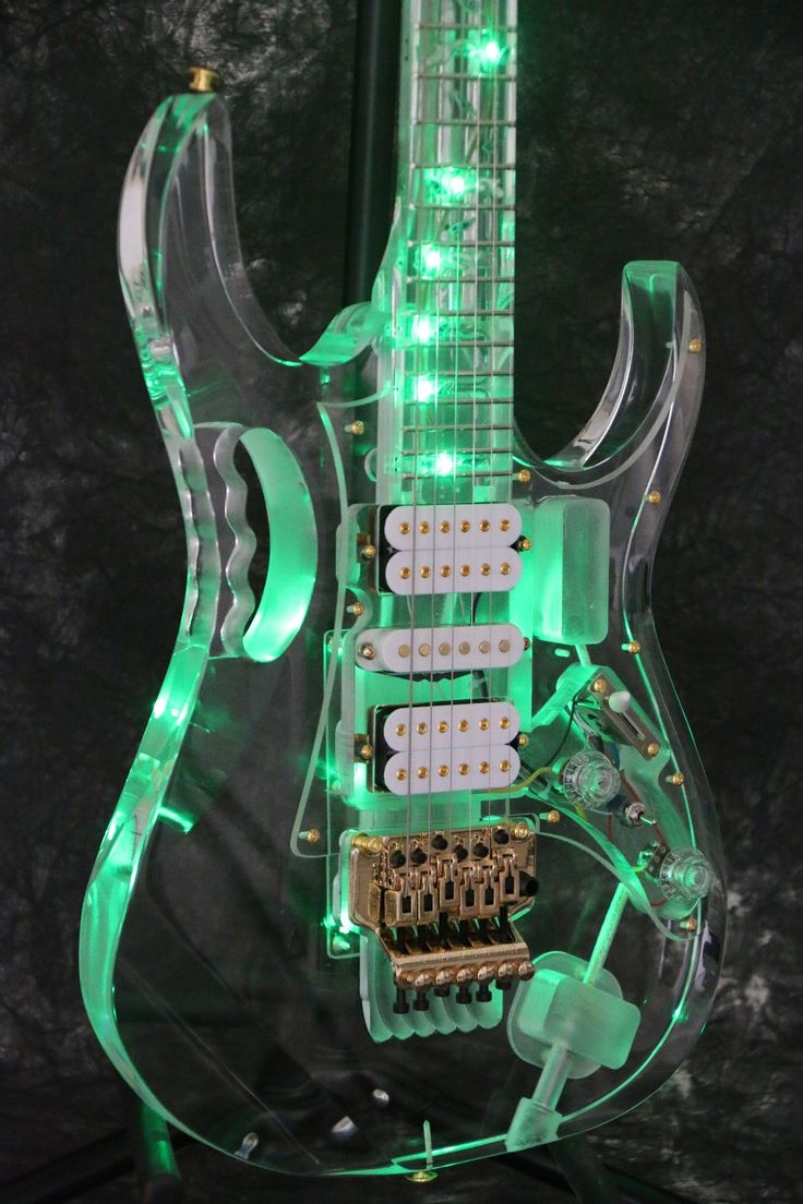 Instock Starshine SR-LBC-033 colorful crystal electric guitar green led light body and neck  full acrylic body and neck