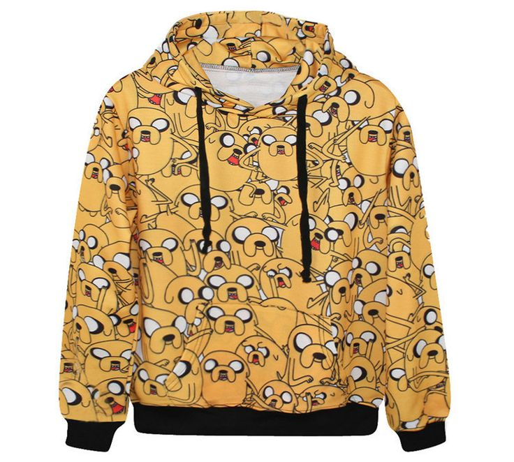 Adventure Time Jake Dog 3D Printed Hoodies