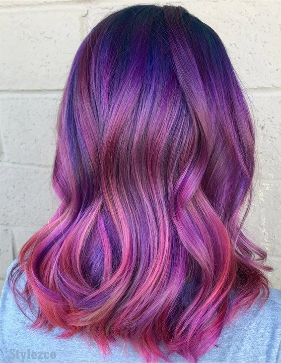 Awesome Pink Blue Hair Color Ideas Combination For 2019 Blue