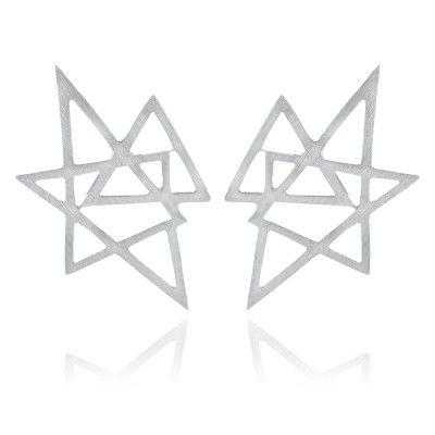 Atria Earrings in Sterling Silver - GITTE SOEE Jewellery - Shop Online www.gittesoee.com