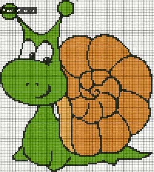 Snail x-stitch
