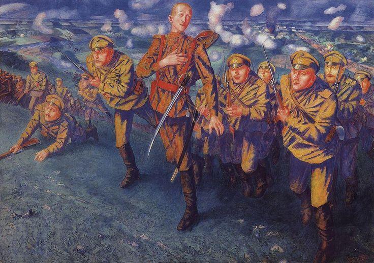 The Line of Fire, 1916 Kuzma Petrov-Vodkin