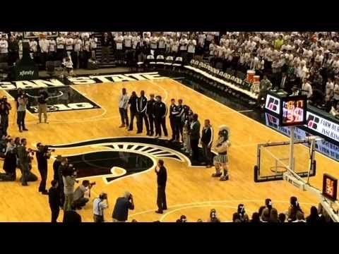 ▶ MSU Rose Bowl Champs honored at halftime of MSU/OSU basketball game 1/7/14 - YouTube...get your kleenex box ready!