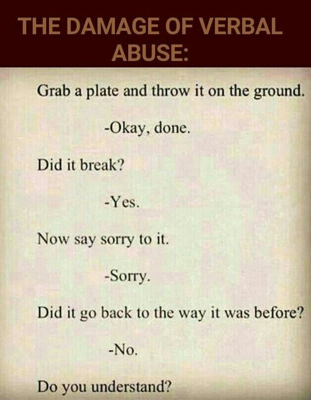 how to stop verbal abuse