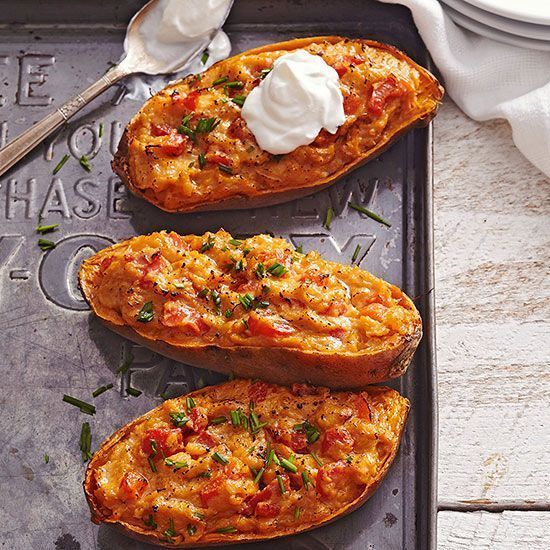 Sweet Potatoes with Roasted Pepper Stuffing