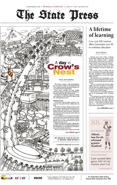 1st Place, Front Page Design (Tabloid) | Newspaper design ...
