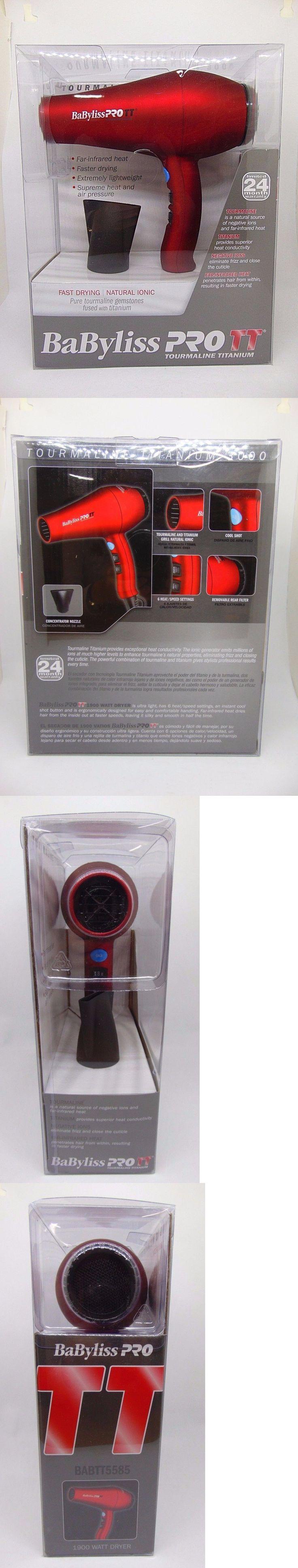 Hair Dryers: Babyliss Pro Tt Tourmaline Titanium 3000 Dryer Babtt5585 New! -> BUY IT NOW ONLY: $69.9 on eBay!