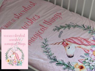 Unicorn Wreath Blanket - Little Field Handmade